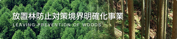 放置林防止対策境界明確化事業